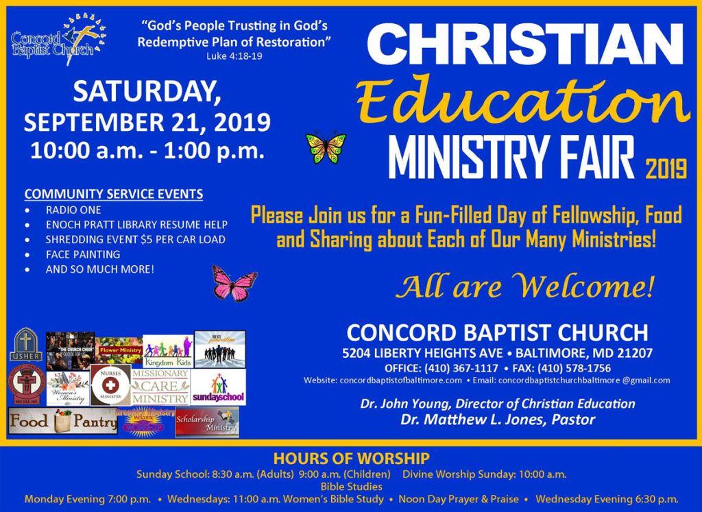 Christian Education Ministry Fair 2019