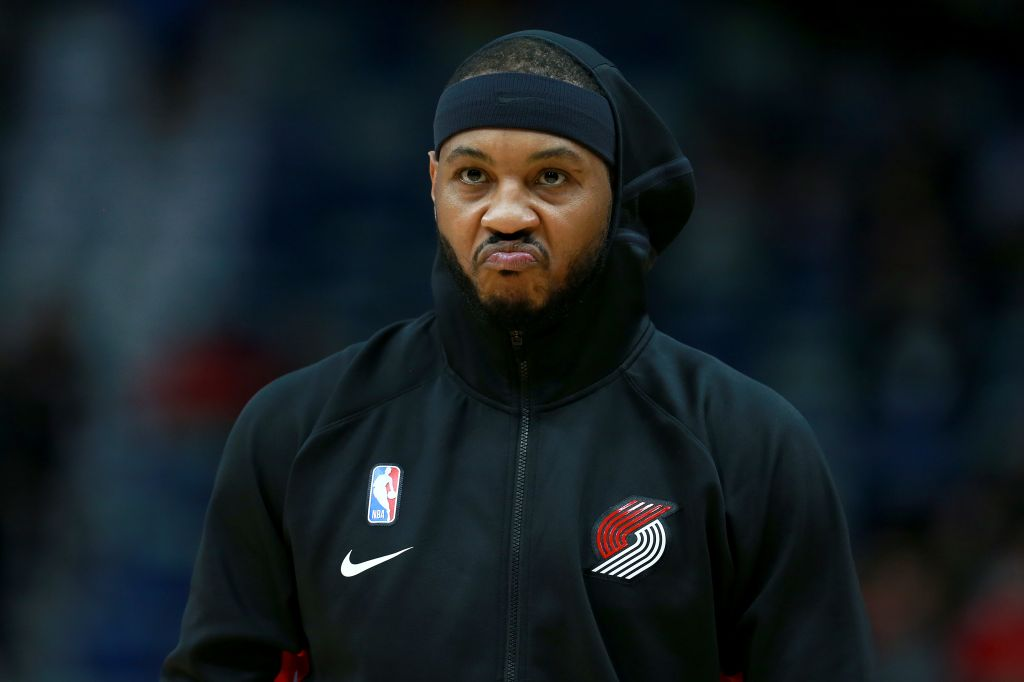 Carmelo Anthony For The Portland Trailblazers
