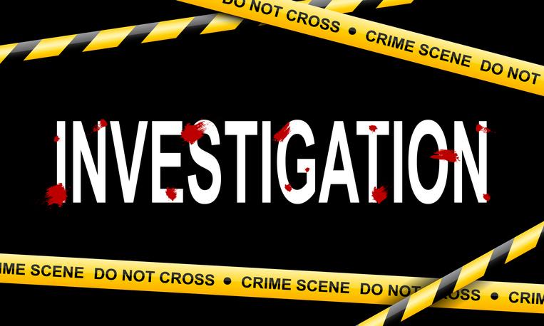 Crime scene tape on black background, vector illustration