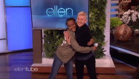 Ellen Degeneres and Jalaiah Harmon