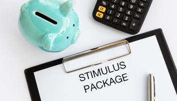 Stimulus Package Text on Clip Board