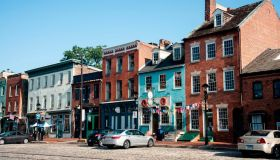 Nineteenth century buildings in Fells Point district of Baltimore, Maryland
