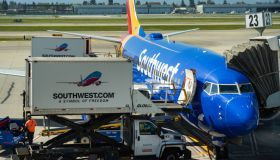 Southwest Airlines Boeing 737-700 aircraft seen at Norman Y...