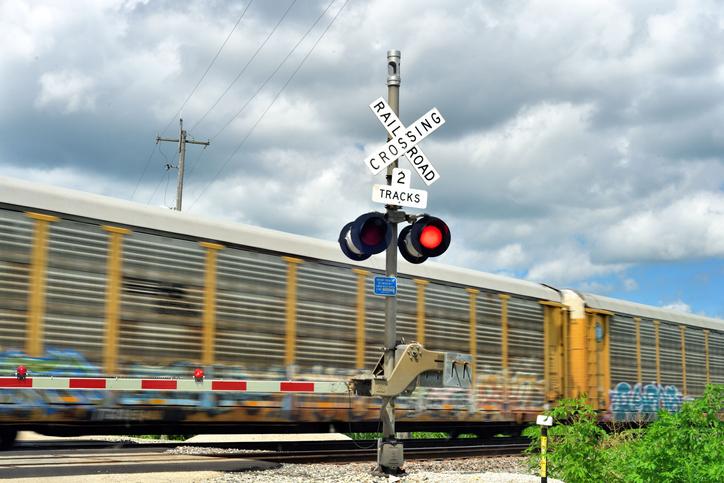 Blurred Train at Crossinng Gate