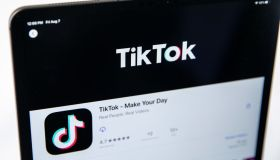 Social Apps TikTok and WeChat, seen on an iPad screen