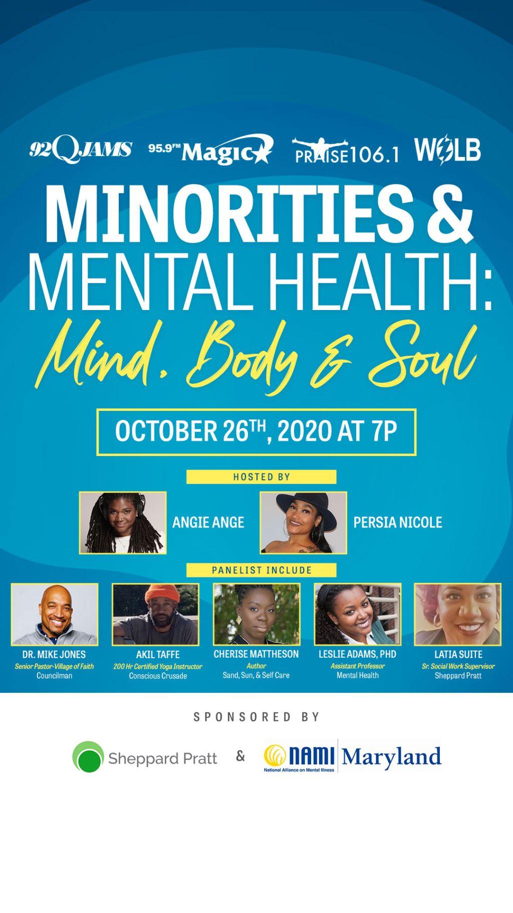 Minorities & Mental Health: Mind, Body & Soul Town Hall